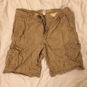 American Eagle Khaki Cargo Shorts